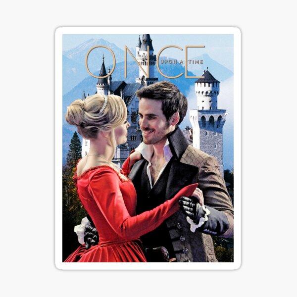 Captain Swan Fairy Tale Watercolor Design 2 Sticker