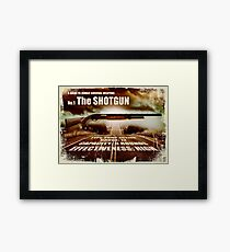 Zombie Weapons - The Shotgun Framed Print