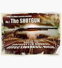 Zombie Weapons - The Shotgun Poster