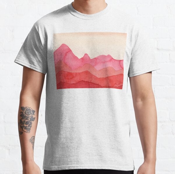 Berge in Rot, Orange, Ocker Classic T-Shirt