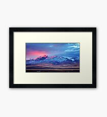 First sunset snow Tule Peak Framed Print