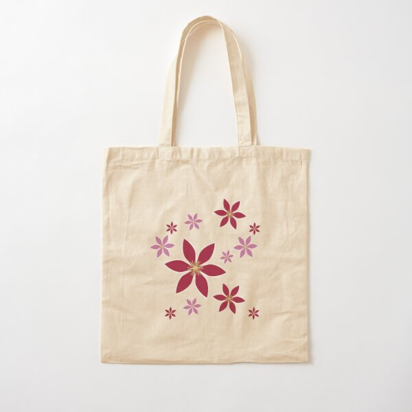 Clematis: Flowers Cotton Tote Bag