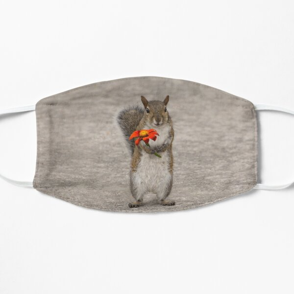 Special For You, Squirrel With Flower Flat Mask