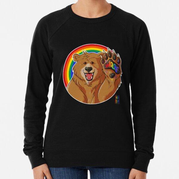 BOBO LIKES TO WOOF - GAY PRIDE Lightweight Sweatshirt
