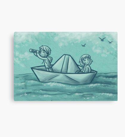 Paper Boat Adventures Canvas Print