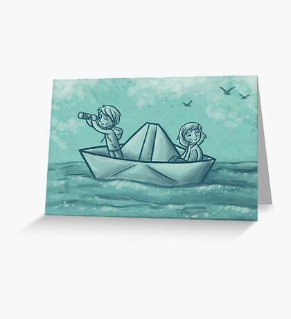 Paper Boat Adventures Greeting Card