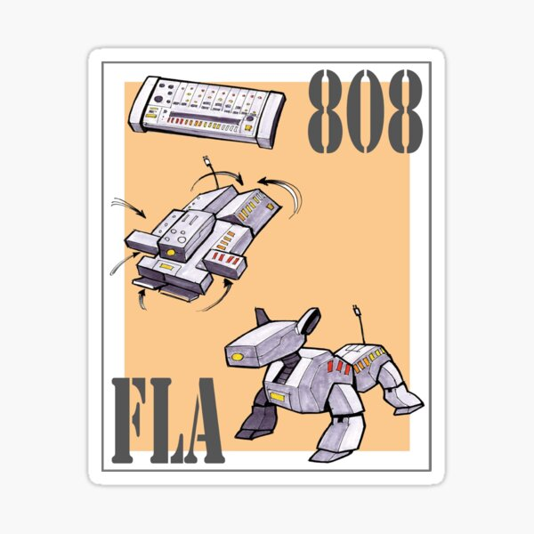 Keyboard Transformer Dog Sticker