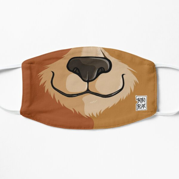 BOBO LIKES TO WOOF - GAY PRIDE Flat Mask