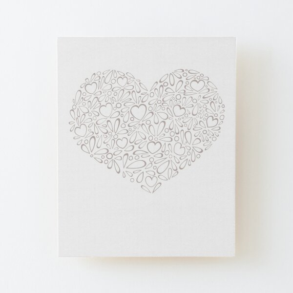 Delicate Heart Wood Mounted Print