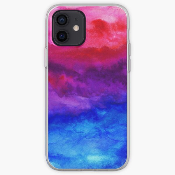 Here Now - Abstract Ombre Watercolor iPhone Soft Case