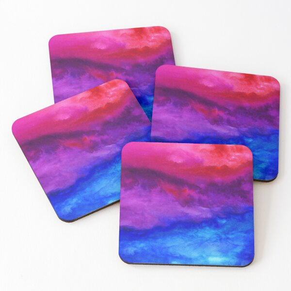 Here Now - Abstract Ombre Watercolor Coasters (Set of 4)
