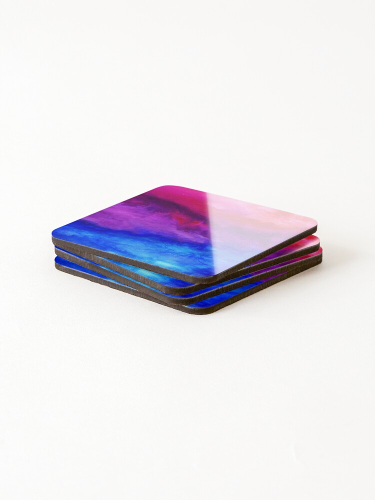 Alternate view of Here Now - Abstract Ombre Watercolor Coasters (Set of 4)