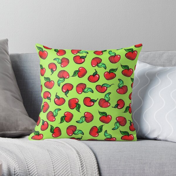 Small Apple Hearts Throw Pillow