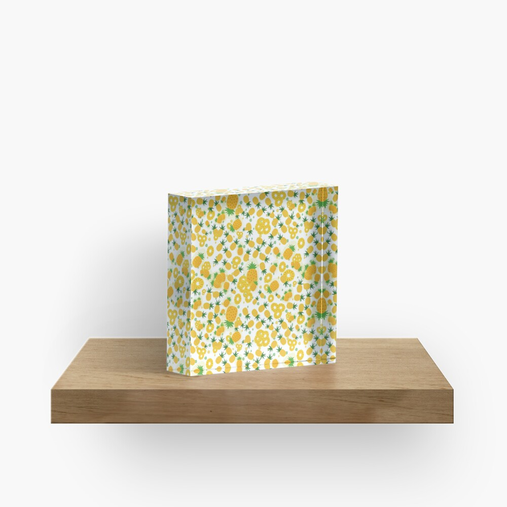 Pineapple Party Acrylic Block