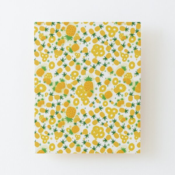 Pineapple Party Wood Mounted Print