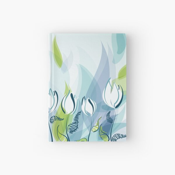 Cool Abstract Tulips Hardcover Journal