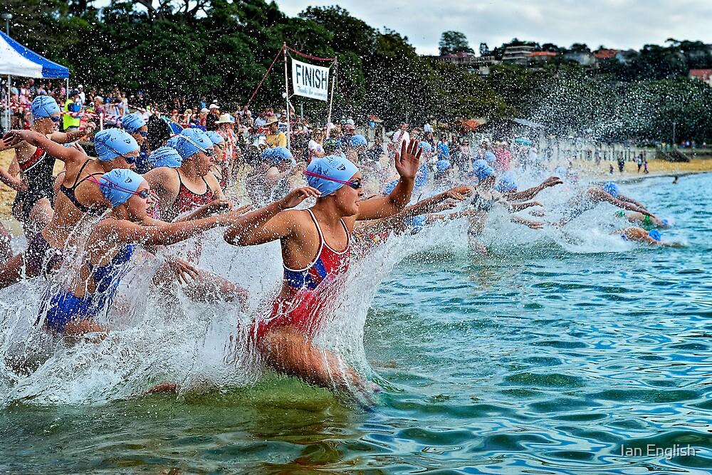 Balmoral Ocean Swim - Blue Caps by Ian English