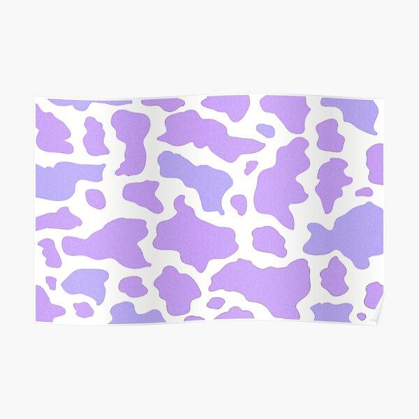 Cow pattern purple Poster