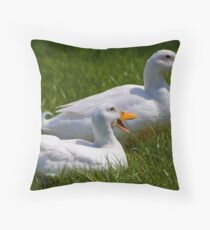 Quack quack quack, quack quack quack Throw Pillow