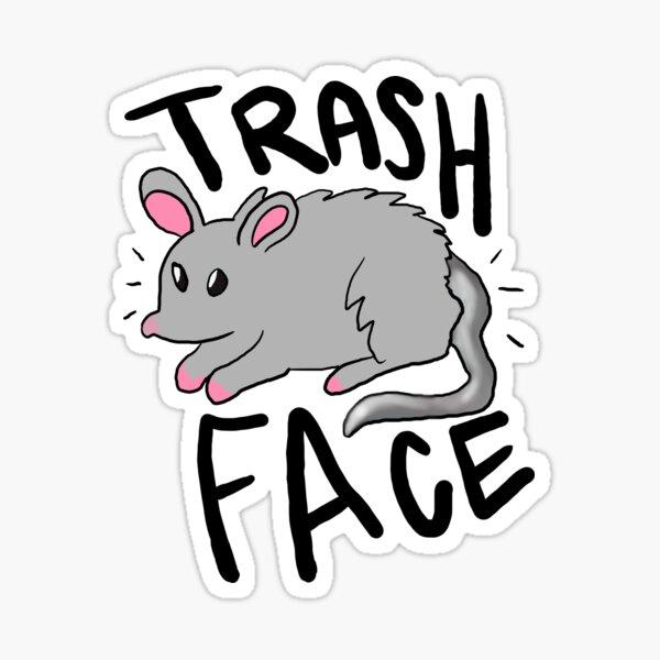 Trash Face Sticker Sticker