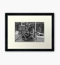 Aborigine Playing Didgeridoo  Framed Print