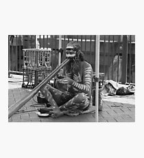 Aborigine Playing Didgeridoo  Photographic Print