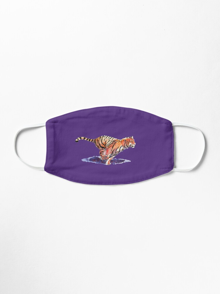 Alternate view of The Tiger - purple version Mask