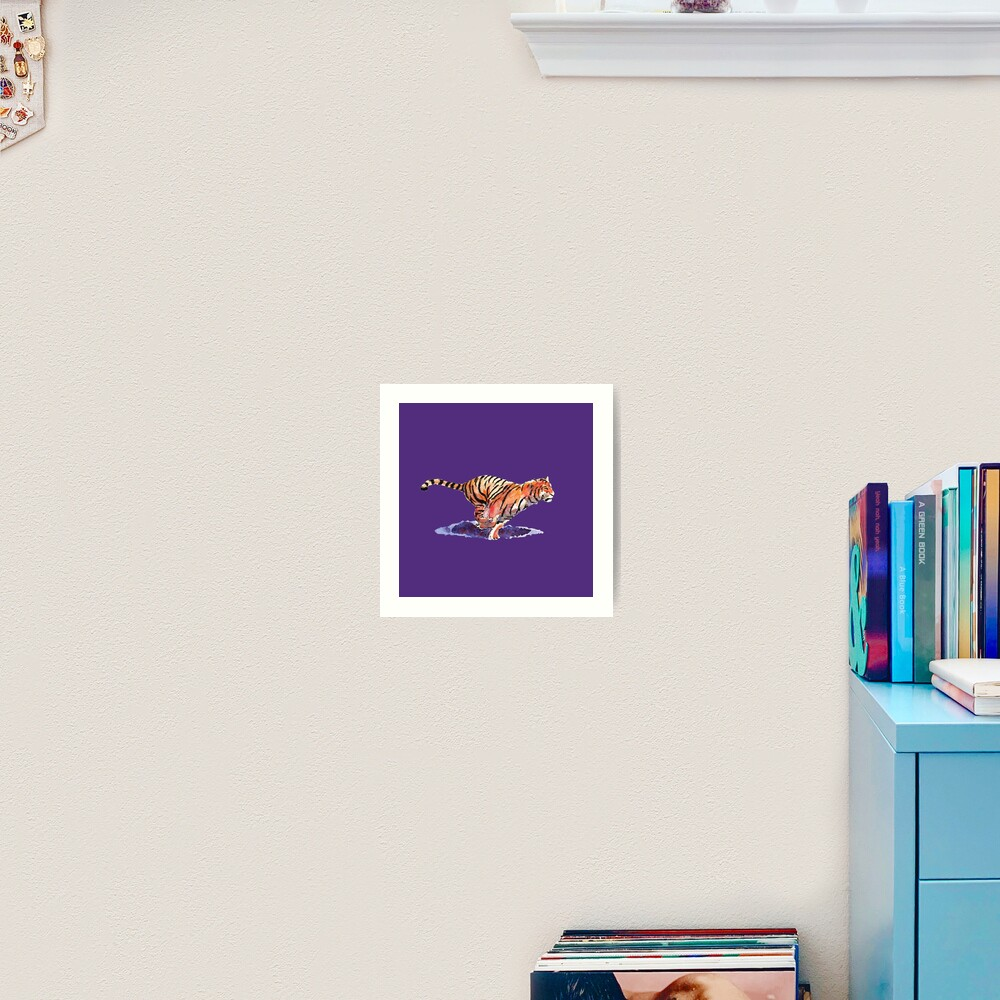The Tiger - purple version Art Print