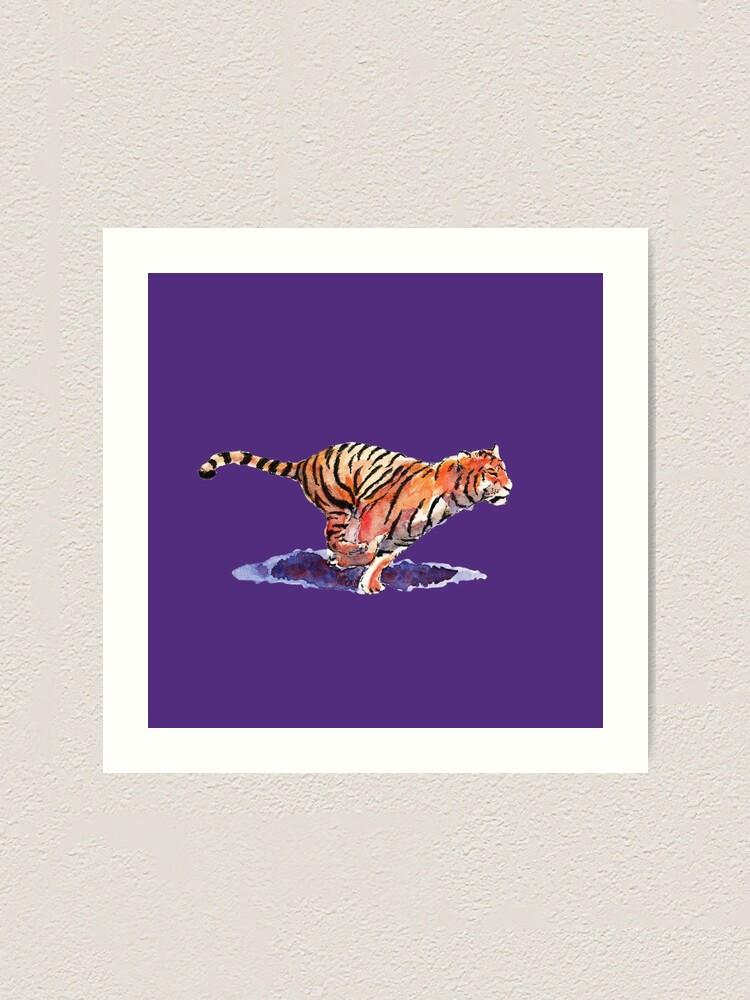 Alternate view of The Tiger - purple version Art Print