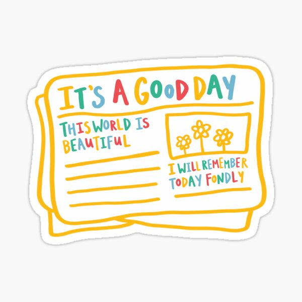 it's a good day newspaper illustration Sticker