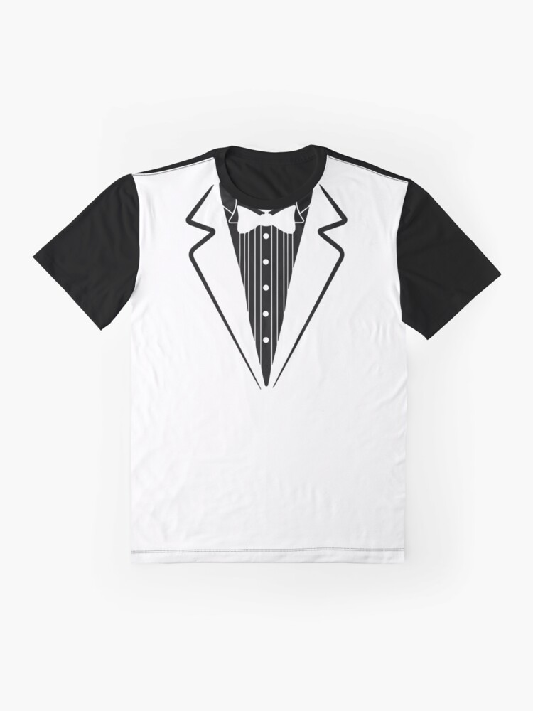 Alternate view of Fake Bow Tie, Tuxedo T-shirt Graphic T-Shirt