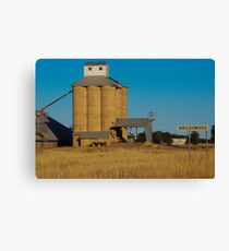 Brushwood Grain Silos Canvas Print