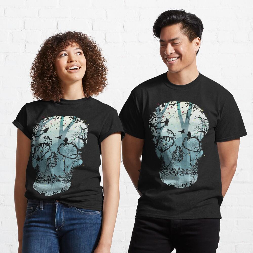 Dark Forest Skull Classic T-Shirt