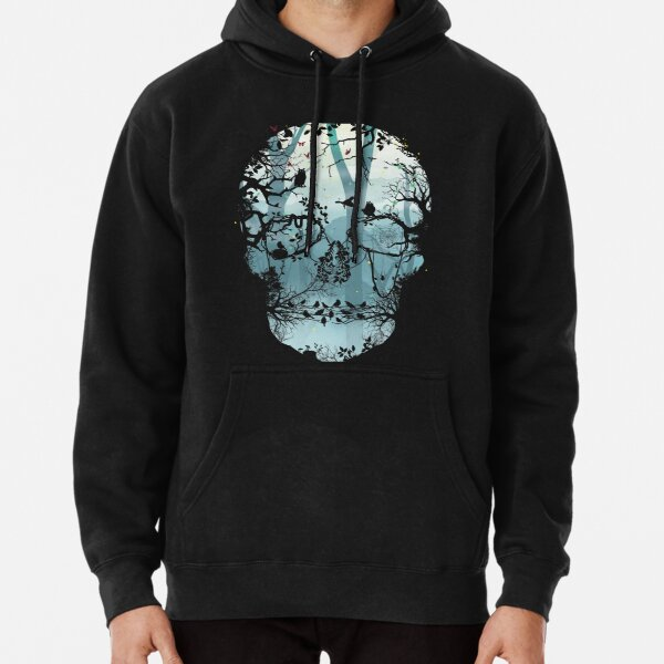Dark Forest Skull Pullover Hoodie