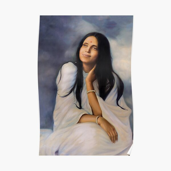 Sri Anandamayi Ma In Divine Rapture. Yoga Studio & Meditation Space Art By Hearts For Love. Poster