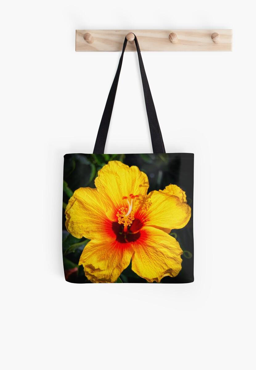 Hawaiian state flower pua aloalo hibiscus brackenridgei tote hawaiian state flower pua aloalo hibiscus brackenridgei by daniel carr izmirmasajfo