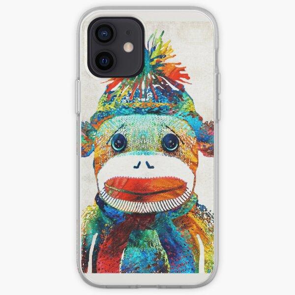 Sock Monkey Art - Your New Best Friend - By Sharon Cummings iPhone Soft Case