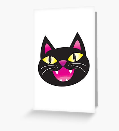Black cat happiness Greeting Card