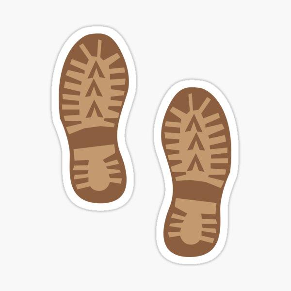 Brown hiking boots print Sticker