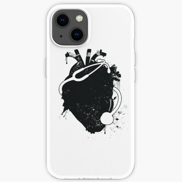 anatomical stethoscope iPhone Soft Case