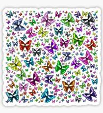 Rainbow butterflies 2 Sticker