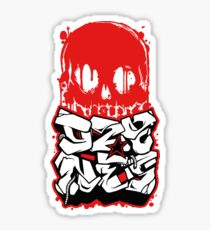 Skull Paint (Red) Sticker