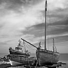 Boats at Deal by Geoff Carpenter