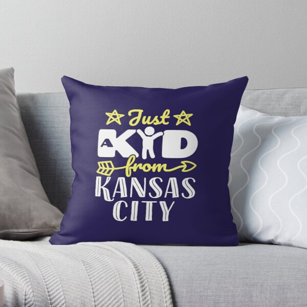 Just a Kid from Kansas City Throw Pillow