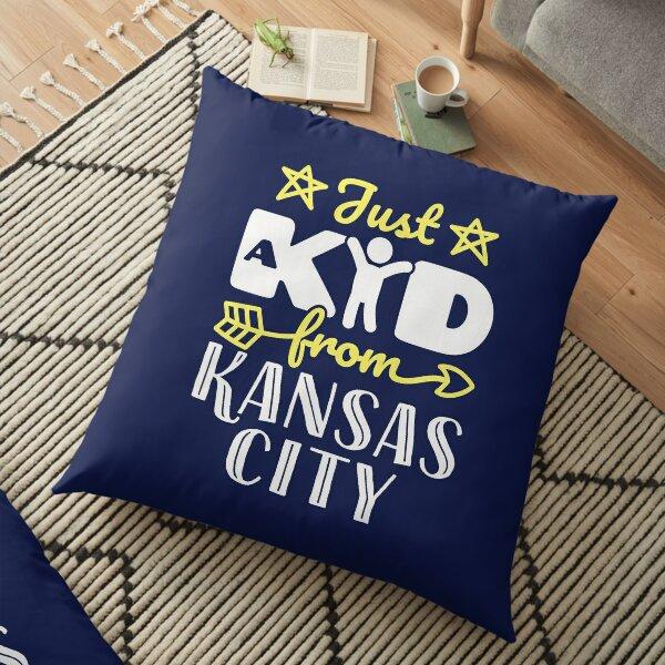 Just a Kid from Kansas City Floor Pillow