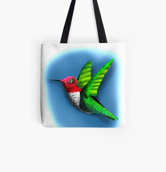 Textured Hummingbird  All Over Print Tote Bag