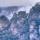 The Three Sisters - The Other Side, Blue Mountains, NSW by Adrian Paul