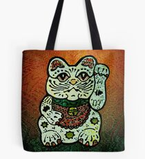'Shiny Lucky Cat #3' Tote Bag