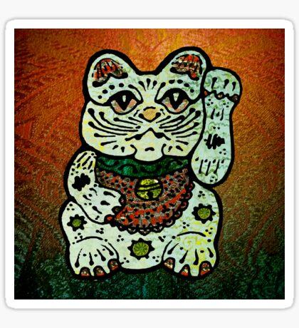'Shiny Lucky Cat #3' Sticker