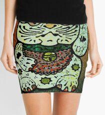 'Shiny Lucky Cat #3' Mini Skirt